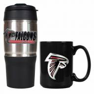 Atlanta Falcons Travel Tumbler & Coffee Mug Set