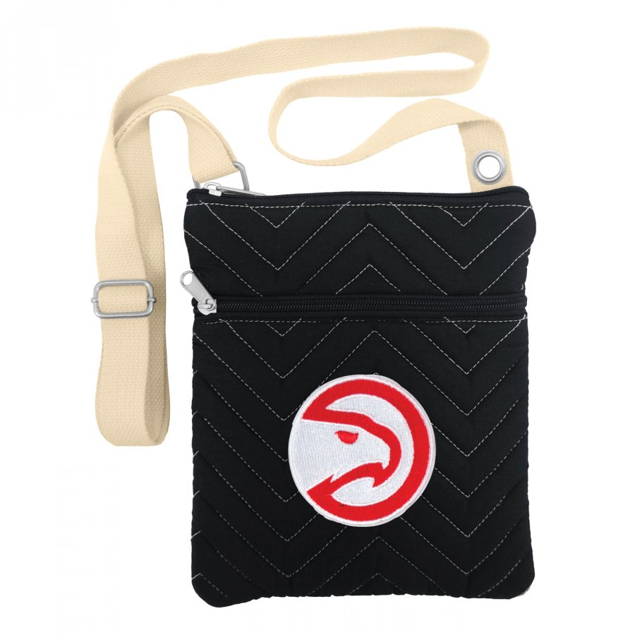 Atlanta Hawks Chevron Stitch Crossbody Bag