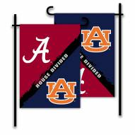 Auburn/Alabama House Divided Garden Flag