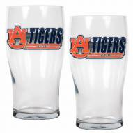 Auburn Tigers 20 oz. Pub Glass - Set of 2