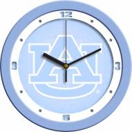 Auburn Tigers Baby Blue Wall Clock