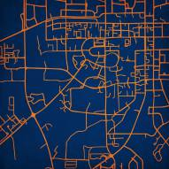 Auburn Tigers Campus Map Print