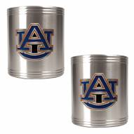 Auburn Tigers College Stainless Steel Can Holder 2-Piece Set