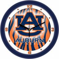 Auburn Tigers Dimension Wall Clock