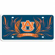 Auburn Tigers Flame License Plate