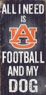 Auburn Tigers Football & Dog Wood Sign