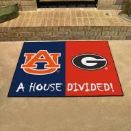 Auburn Tigers/Georgia Bulldogs House Divided Mat