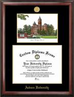 Auburn Tigers Gold Embossed Diploma Frame with Lithograph
