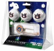 Auburn Tigers Golf Ball Gift Pack with Cap Tool