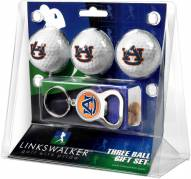 Auburn Tigers Golf Ball Gift Pack with Key Chain
