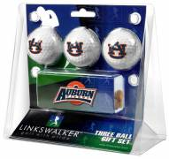 Auburn Tigers Golf Ball Gift Pack with Slider Clip