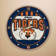 Auburn Tigers NCAA Stained Glass Wall Clock