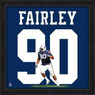 Auburn Tigers Nick Fairley Uniframe Framed Jersey Photo
