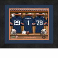 Auburn Tigers Personalized Locker Room 13 x 16 Framed Photograph