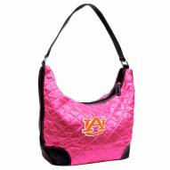 Auburn Tigers Pink Quilted Hobo Handbag