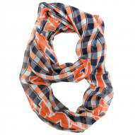 Auburn Tigers Plaid Sheer Infinity Scarf
