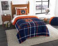 Auburn Tigers Plaid Twin Comforter Set