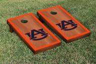 Auburn Tigers Rosewood Stained Border Cornhole Game Set