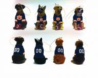 Auburn Tigers Team Dog Ornaments