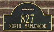 Baltimore Ravens NFL Personalized Address Plaque - Black Gold