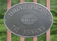 Baltimore Ravens NFL Personalized Logo Plaque - Pewter Silver