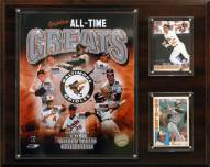 "Baltimore Orioles 12"" x 15"" All-Time Great Photo Plaque"