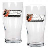 Baltimore Orioles 20 oz. Pub Glass - Set of 2