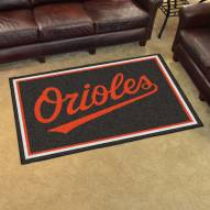 Baltimore Orioles 4' x 6' Area Rug