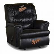 Baltimore Orioles Big Daddy Leather Recliner