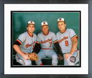 Baltimore Orioles Billy Ripken, Cal Ripken Sr. and Cal Ripken Jr. Framed Photo
