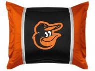 Baltimore Orioles Bird Logo Sidelines Pillow Sham