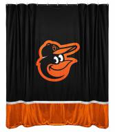 Baltimore Orioles Bird Logo Sidelines Shower Curtain