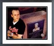 Baltimore Orioles Cal Ripken Jr. with Monument of Lou Gehrig 1990 Framed Photo