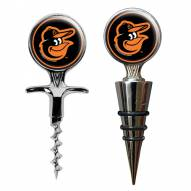 Baltimore Orioles Cork Screw & Wine Bottle Topper Set