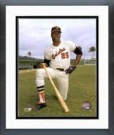 Baltimore Orioles Don Baylor posed with bat Framed Photo