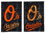 Baltimore Orioles Double Sided Glitter Flag