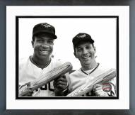 Baltimore Orioles Frank Robinson & Brooks Robinson 1966 Framed Photo
