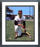 Baltimore Orioles Frank Robinson Kneeling with Bat Framed Photo