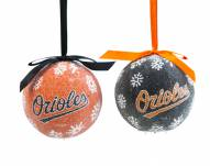 Baltimore Orioles LED Boxed Ornament Set