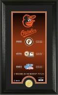 Baltimore Orioles Legacy Supreme Bronze Coin Panoramic Photo Mint