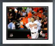 Baltimore Orioles Manny Machado 2014 Action Framed Photo