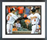 Baltimore Orioles Manny Machado & Jonathan Schoop 2015 Framed Photo