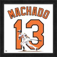 Baltimore Orioles Manny Machado Uniframe Framed Jersey Photo