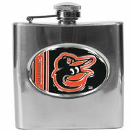 Baltimore Orioles MLB 6 Oz. Stainless Steel Hip Flask