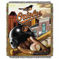 Baltimore Orioles MLB Woven Tapestry Throw Blanket