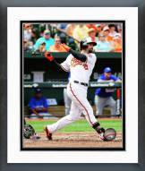 Baltimore Orioles Nick Markakis 2014 Action Framed Photo