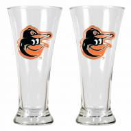 Baltimore Orioles Premiere Pilsner Glass Set
