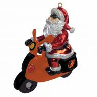 Baltimore Orioles Santa Scooter Ornament