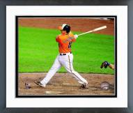 Baltimore Orioles Steve Clevenger 2014 Action Framed Photo