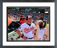 Baltimore Orioles Steve Pearce 2014 Action Framed Photo